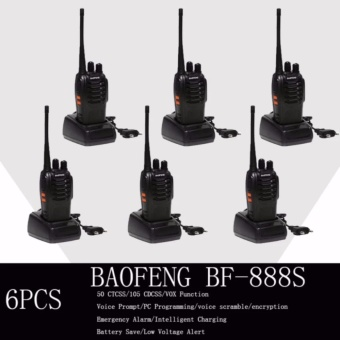 Baofeng / Pofung BF-888s UHF Transceiver Two-Way Radio Set of 6