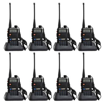 Baofeng UV-5R Walkie Talkie Dual Band Radio Walkie Talkie Set of 8 (Black)