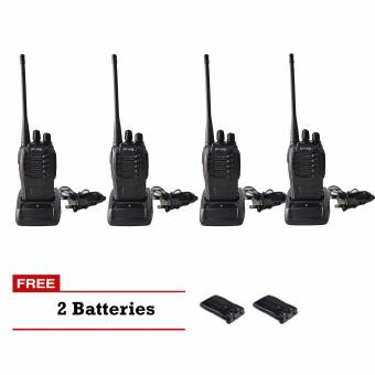 Baofeng/Pofung BF-888s UHF Transceiver Two-Way Radio Set of 4 with FREE 2 Batteries