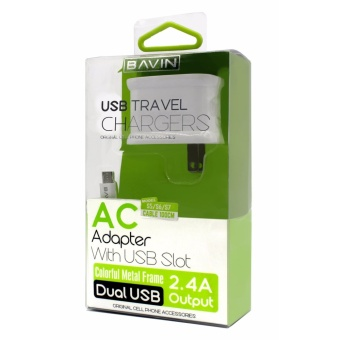 Bavin 2.4A Dual USB Fast Charger High Efficiency Quick ChargingTravel Adapter for Android - 4