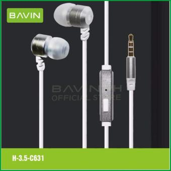 Bavin C631 High Quality Bass Earphones (White)