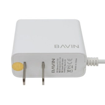 Bavin Fast Charger with 2 extra USB Ports for iPhone 5s (White) - 3