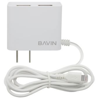 BAVIN Fast Charger with 2 USB Ports iPhone 6 (White) with Free USBCard Reader - 4