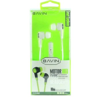 Bavin H-3.5 E118 100dB Motor Type Headset for iOS and Androiddevices (White)