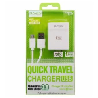 Bavin PC658-5P 16w Fast Charger Qualcomm Quick Charge 3.0 QuickTravel Charger For Android With Cable Price Philippines