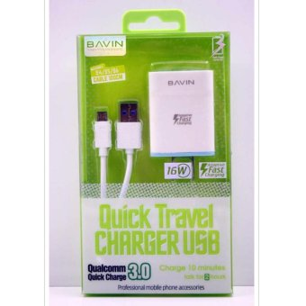Bavin PC658S QC 3.0 Safety Fast Charging USB Charger for Samsungand Micro