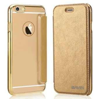Bavin Protective Frosted Shell Flip PU Cover Case for iPhone 6/6s(GOLD)