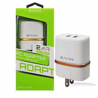 Bavin White DL-AC52 Dual USB Charger Adapter