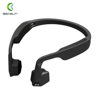 BEASUN GS Wireless Open-ear Stereo Bone Conduction Headphone Earphone Headset Bluetooth 4.1 IPX6 Waterproof Hands Free with Built-in Microphone for iPhone 7 Plus/ 7/ 6 Plus/ 6S for Running Jogging Cycling Driving Outdoorfree^ - intl