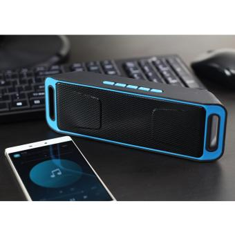 Below SRP Megabass A2DP Stereo Music Wireless Speaker (Blue) - 3