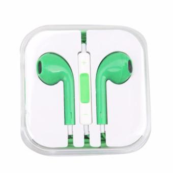 Best Quality New Fashion 3.5mm In-ear Earphone for Apple iPhone(green)