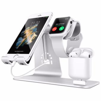 Bestand 3 in 1 Apple iWatch Stand, Airpods Charger Dock, PhoneDesktop Tablet Holder for Airpods, Apple Watch/ iPhone 7 Plus/iPad,Space Grey(Patenting)