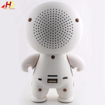 Big Hero 6 Baymax Super Cute Portable Wireless Bluetooth Speaker(White) - 3