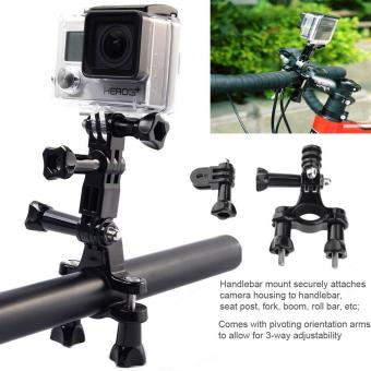 Bike Handlebar Mount Holder with 3-Way Pivot Extension Arm forSports Action Camera Xiaomi Yi GoPro Hero Accessories