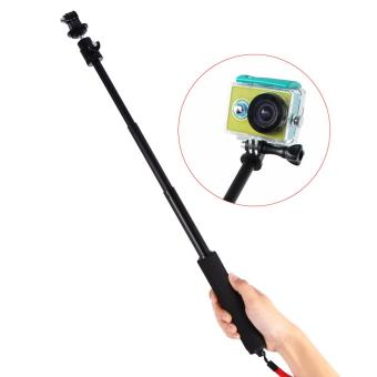 Black Adjustable Aluminium Extendable Pole Handheld And TripodMount For Gopro Hero 2/3/4 - intl