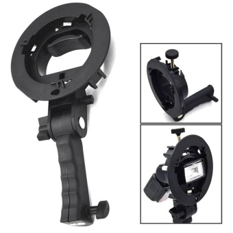 Black Bowens Mount S-type Bracket Holder for Camera Flash UmbrellaSoftbox - intl Price Philippines