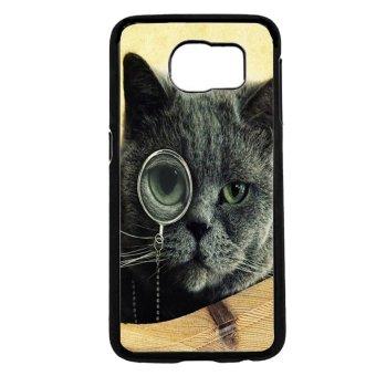 Black Cat Kitty Pattern Phone Case For Samsung Galaxy S6 (Black)