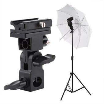 Black Hot Shoe Flash Umbrella Holder Light Stand Bracket For PhotoVideo Photography - intl