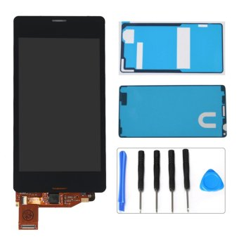 Black LCD Display Touch Screen Digitizer Assembly For Sony XperiaZ3 Mini Compact D5803 D5833 +Adhesives+Repair Tools - intl
