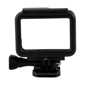 Black Protective Frame Case Shell Housing Case With Base AdapterFor Gopro Hero 5 - intl