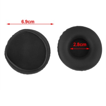 Black Replacement Ear Pads Cushion For AKG Y50 Headphones (Black) - picture 2