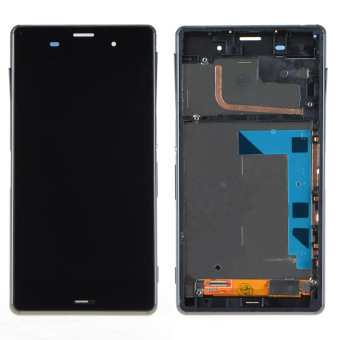 Black Touch Screen LCD Digitizer Display+Frame For Sony Xperia Z3 D6603 - Intl