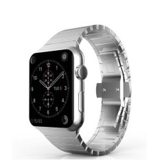Bluesky Apple Watch Band, Stainless Steel Replacement Smart WatchBand Wrist Strap Bracelet with Butterfly Buckle