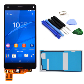 Bluesky Black LCD Display Touch Screen with Digitizer Assembly + Adhesive + Tools For Sony Xperia Z3 Mini Compact D5803 D5833 - Intl