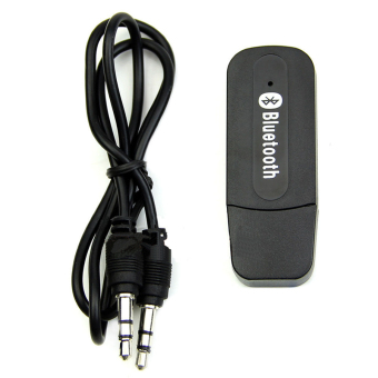 Bluetooth 2.1+EDR USB 3.5mm Stereo Music Audio Speaker Receiver Adapter Dongle(Black) (Intl)