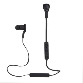 Bluetooth Earphone for iPhone for Android Smart Phones (Black) - Intl