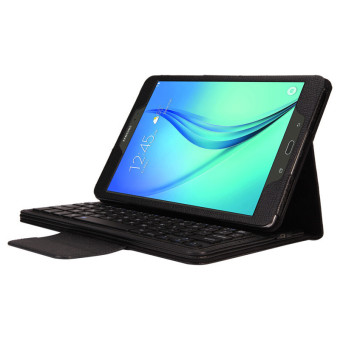 Bluetooth Keyboard Leather Case Stand For Samsung Galaxy Tab A 9.7 T550 Black