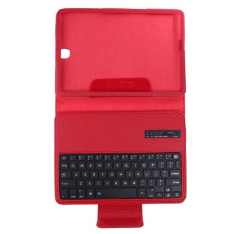 Bluetooth Keyboard Leather Case + Stand for Samsung Galaxy Tab S2T810/Tab(Red) - intl - 5