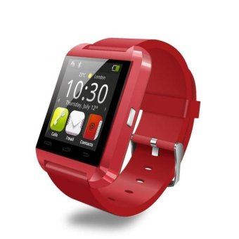 Bluetooth Smart Wrist Watch U8 Phone Mate for Android and IOS (Red) - Intl