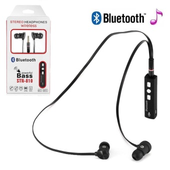 Bluetooth Stereo Headset Earphone Headphone w/ Mic For Mobile Smart Phone - intl