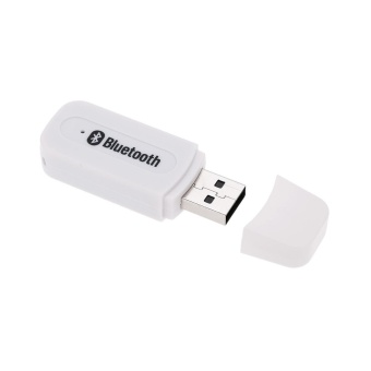 Bluetooth V2.1+ EDR Wireless Audio Receiver w/ 3.5mm Jack Cable -White - intl