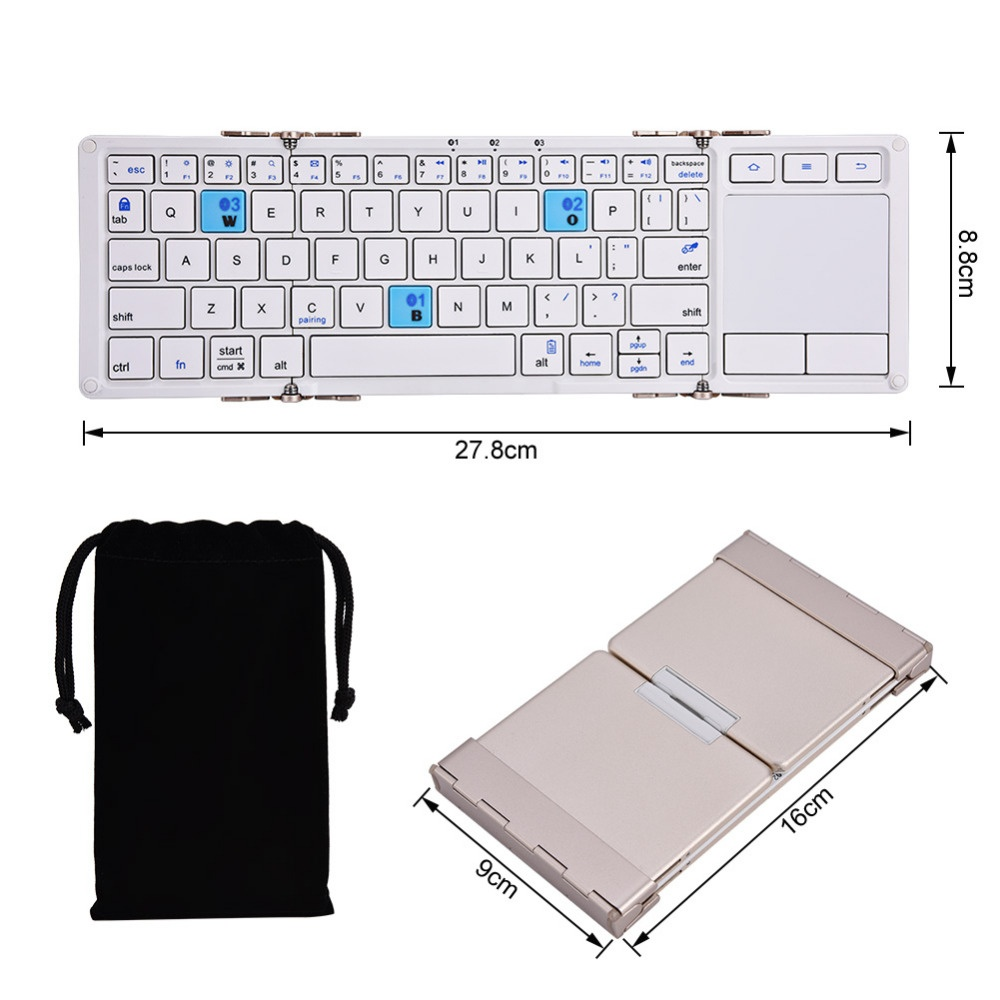 Philippines | Bluetooth Wireless Foldable Keyboard Touchpad