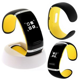 Bluetooth Wrist SMART Bracelet Watch Phone For IOS Android iPhone Yellow