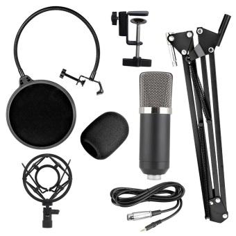 BM-700 Studio Broadcasting Recording Condenser Microphone(Black) - intl - 4