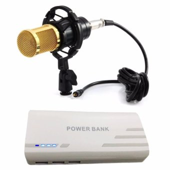 BM-800 Condenser Sound Recording Microphone with Shock Mount forRadio Braodcasting (Black) WITH Pinoy Puff PF-102 20000mAh 3-PortUSB Smart Power Bank for Smartphones and Tablet with LED Light(White)