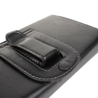 BONVAN Universal Leather Belt Pouch Case Cover Holster Belt Clipfor Various Mobile 4.0 inch-5.0 inch - intl - 4