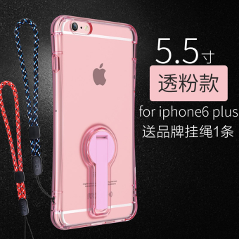 Bow iphone6 silicone transparent Apple support phone case