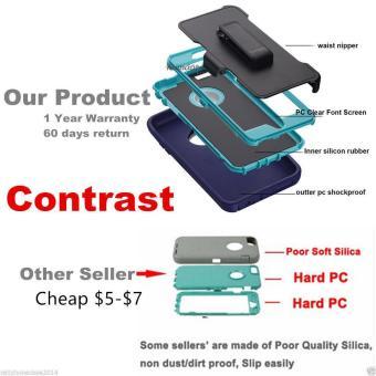 (BOX Belt Clip Fits Otter) Defender Heavy Duty Case Cover For AppleIPhone 6 plus / IPhone 6s plus - intl - 3
