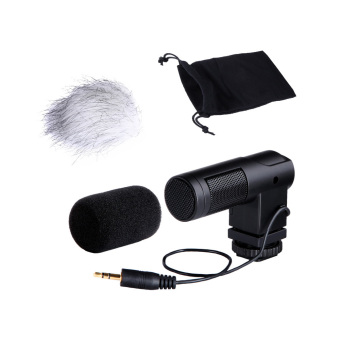 BOYA BY-V01 Stereo X/Y Mini Condenser Microphone / Mic for Canon Nikon Pentax Sony DSLR Camcorder (Intl)