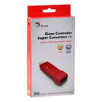 Brook Cross Console PS4 PS3 to Xbox One Gaming ConverterControllerAdapter (Red)