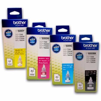 Brother BT5000M BT5000C BT5000Y BT6000BK Genuine Ink Bottle set of4 (Magenta, Cyan, Yellow, Black)