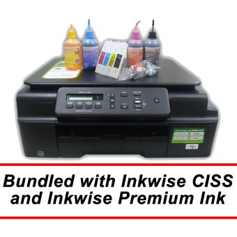 Brother DCP-J100 3-in-1 Inkjet Printer with Inkwise Premium Continuous Ink System and Premium UV-Dye Ink