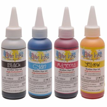 Brother Elite Inks Premium Japan Dye Inks 100ml Set (CMYK)