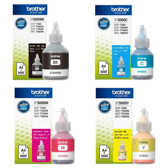 Brother Ink BT5000C/M/Y BT6000K (DCP-T300,T500W,T700W,MFC-T800W)
