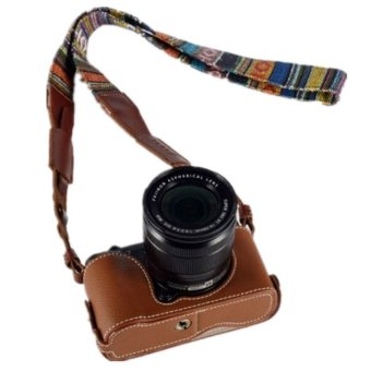 Brown Leather Camera Body Case CSJ-XM1-01 for FujifilmX-M1/X-A1/X-A2 Price Philippines