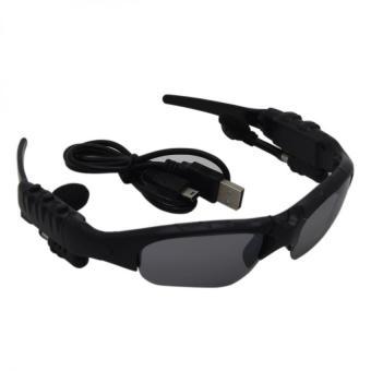 BTglasses THB368 Music Stereo Bluetooth Sun Glasses (Black) With M9Intelligent Phone Quad Smart Watch with Sim Card Slot(Black/Silver) - 2